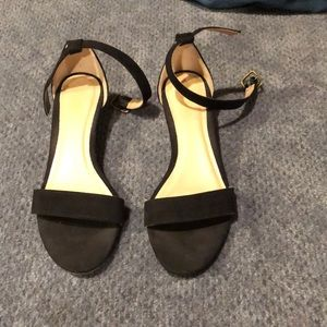 Black Low Wedge Shoes